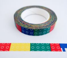 Single roll of thin washi masking tape with Legos pattern. Great for travel journals, scrapbooking, gift wrapping, decorating cards and envelopes and more! Add a little dash of cuteness to any craftin