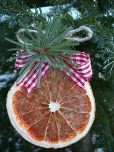 Orange christmas ornament