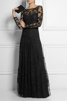 Temperley London Francine embroidered tulle gown | NET-A-PORTER