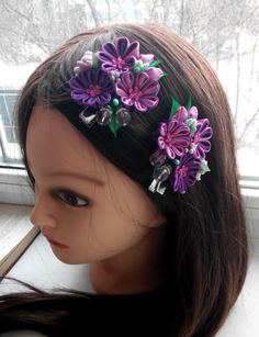 Set of two flower hair clips/Kanzashi от AirinFlowers на Etsy