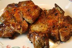 Grilled pork chops...