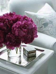 One of my favorite flowers:  Purple Peonies  (well any color Peonies)