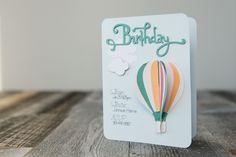 Hot Air Balloon Birthday Card. Make It Now with the Cricut Explore Air machine in Cricut Design Space.