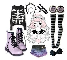 """""""Pastel Goth 2"""" by bethie-seay ❤ liked on Polyvore featuring Givenchy, women's clothing, women's fashion, women, female, woman, misses and juniors"""