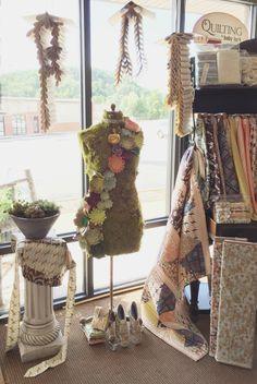 Quilt Shop Window Display