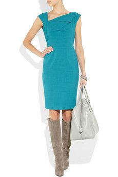 Roland Mouret dress and Louboutin boots - wish I had a reason to dress like this every day.