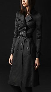 COTTON SATEEN BOW DETAIL TRENCH COAT