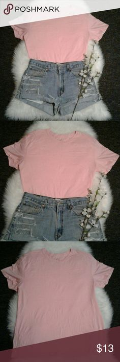 """A/X Pink XXL Boyfriend Crew Neck Tee Shirt Excellent condition  No Flaws 96% cotton-4% elastane (tag was cut off) BUST: 25"""" (arm pit to arm pit) relaxed laying flat Length: 29"""" (shoulder to bottom hem) Perfect for everyday A/X Armani Exchange Tops Tees - Short Sleeve"""