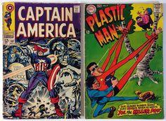 7 Silver Age 1960s 12¢ Comic Book Lot - Batman, Avengers, Captain America - DC / Marvel Comics