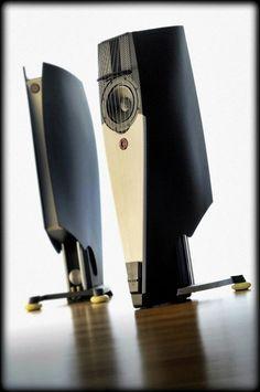 "Custom made High End HiFi loudspeaker ""SAIL"" based on Udo Wohlgemuth´s Audiophile Speakers, Speaker Amplifier, Hifi Audio, Stereo Speakers, Floor Speakers, High End Speakers, High End Hifi, High End Audio, Audio Design"