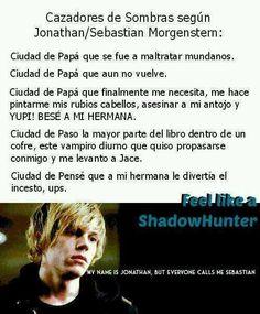 cazadores de sombras segun Sebastian
