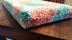 A blog detailing our Pop Up Camper Remodel. Easy sew cushion directions. Used outdoor fabric