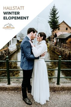 Snowstorm Winter Elopement in Hallstatt Got Married, Getting Married, Moving To San Diego, Dream Wedding, Wedding Day, Emotional Support Animal, Just Friends, Outdoor Ceremony, Getting Old