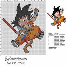 Goku kid - Dragon Ball character free pattern
