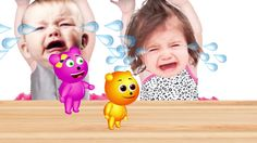 Bad Baby Crying and Learn colors with Gummy Bear, Minion Finger Family S...