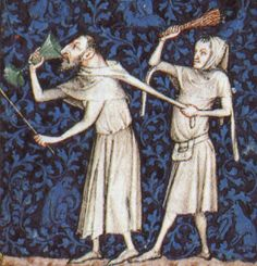 centuri men, 14th centuri, middl age, 14th century, medieval glass