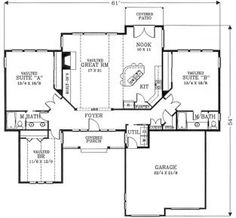 1784 sq ft w/ 2 master suites  House Plans & Designs - Build Your Dream Home Plans at Monster House Plans