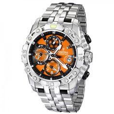 Festina Men's Tour de France F16542/7 Silver Stainless-Steel Quartz Watch