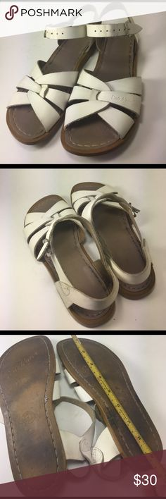 Salt Water Strappy Sandals Pre owned minor sign of used. Dirt can be wash . Adult size 4 Salt Water Shoes Sandals
