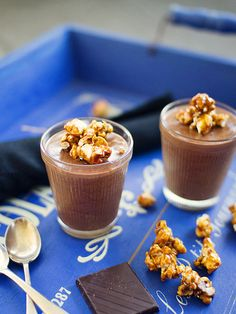 chocolate mousse with candied popcorn by spicyicecream, via Flickr