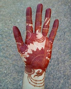 8 Front Side Mehndi Design Ideas That Will Give Your Bridal Lehenga Heavy Competition! Henna Hand Designs, Mehndi Designs Finger, Latest Bridal Mehndi Designs, Full Hand Mehndi Designs, Mehndi Designs 2018, Stylish Mehndi Designs, Mehndi Designs For Girls, Mehndi Design Photos, Wedding Mehndi Designs
