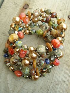 Boho Bracelet, Sundance Style, Artisan Bracelet, Bohemian Jewelry, Stacked Bracelet. $68.00, via Etsy.