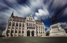 Τhe Parliament... - It's the Parliament of Budapest - Hungary, in a long exposure shot, during a day with a gorgeous sky ( after 3 days of hazy and rainy weather ), which gave great opportunities for photo shooting.  An extraordinary building, from every angle and an excellent sample of  architecture...