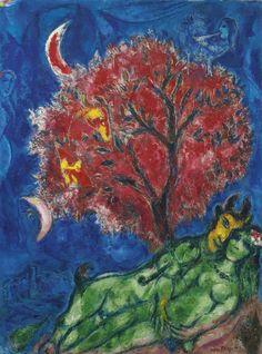 """L'arbre rouge"", 1966, Marc Chagall."