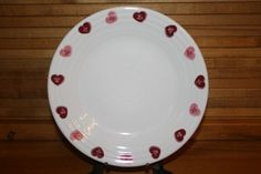 $16 Fiestaware Valentine Luncheon Plate with Candy Heart Retired Pattern | eBay