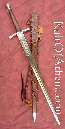 Darksword 15th Century Hand and a Half sword  with Integrated Sword Belt