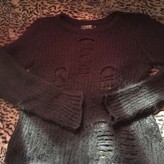 Tripp Rag stripe sweater black ORIGINAL Tripp tag stripe sweater black, acrylic ... Tripp nyc Sweaters Crew & Scoop Necks