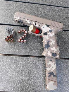 Nice Glock for military stealth use Glock 22, Glock Guns, Weapons Guns, Guns And Ammo, Gun Art, Custom Guns, Military Guns, Hunting Rifles, Cool Guns