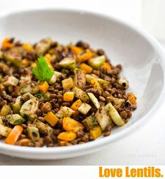 Cooking challenge: getting my bean-hating husband to eat more legumes (beans + lentils). I decided to start with lentils because they are p...