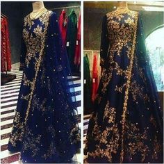 for Order booking & Price details whatsapp nivetasfashion We are Specialize in custom made High Superior quality Outfits Hand Emrbodiered Work. Pakistani Wedding Outfits, Bridal Outfits, Pakistani Dresses, Indian Gowns, Indian Attire, Indian Outfits, Red Lehenga, Anarkali Dress, Anarkali Suits