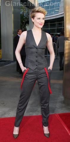 Evan Rachel Wood sports Androgynous look