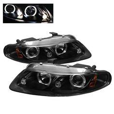( Spyder ) Dodge Avenger 2Dr 97-00 / Chrysler Sebring 2Dr 97-00 Projector Headlights - LED Halo - LED ( Replaceable LEDs ) - Black - High H1 (Included) - Low H1 (Included)