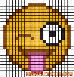 emoji perler bead pattern - Google Search