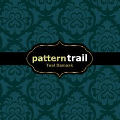PU | Free – Teal damask – Illustrator swatch, PS pattern & Web background tile by Pattern Trail