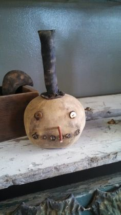 Primitive Snowman Head