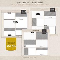 Journaling cards stylish simple elegant impressive by Paislee Press