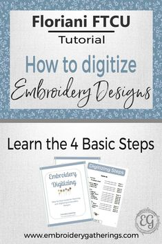 Embroidery Tutorials Learn to digitize embroidery designs with Floriani FTCU. Step by step written tutorials, photos and free PDF Sewing Machine Embroidery, Paper Embroidery, Embroidery Software, Learn Embroidery, Japanese Embroidery, Free Machine Embroidery Designs, Embroidery For Beginners, Embroidery Techniques, Embroidery Stitches