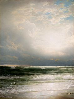 Sand, Sea and Sky by William Trost Richards (1833-1905)