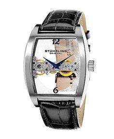 STUHRLING ORIGINAL 腕時計 303.33152 (ブラック) 私、バイヤーが欲しい時計トップ10にはいる、この時計。かっちょいい! シースルーが映えてます。うん。