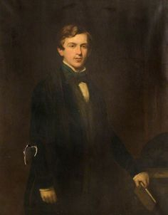 Oil on canvas painting of Sir Henry Jackson, 2nd Baronet by Thomas Henry Illidge