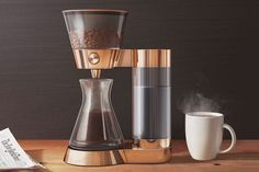 Artisanal coffee doesn't have to be a lot of work. The Poppy Pour-Over Coffee Machine makes it as simple as a normal coffee maker. Coffee Shop, Coffee Brewer, Coffee Cups, Coffee Coffee, Coffee Lovers, Ninja Coffee, Coffee Dripper, Coffee Logo, Coffee Girl
