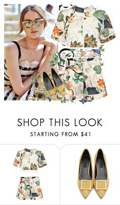 """""""Yoins: Floral Print"""" by yoinscollection ❤ liked on Polyvore featuring vintage"""