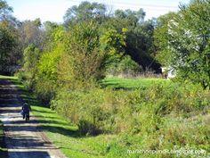 The Illinois & Michigan State Trail in Marseilles, Illinois.