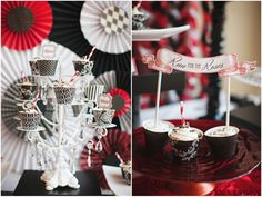 Bliss Summer Launch Party | A Kentucky Derby Style Affair #kentuckyderby themed party red, white, and black. Event by The Fairy Godmothers Weddings & Events