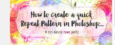 How to create a quick repeatable pattern in Pshop