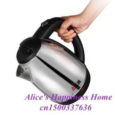 Electronic Stainless Steel Electric Water Kettle To Boil Tea Kettles Automatic Power-Off Kitchen Appliances Stainless Steel Kettle, Electronic Appliances, Tea Kettles, Stove Fireplace, Electric, Kitchen Appliances, Stoves, Fireplaces, Water